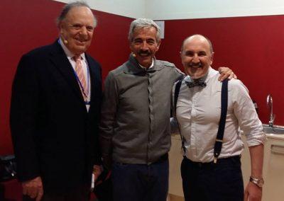 Fernando Salinero con Inmanol Arias y Carlos Falcó