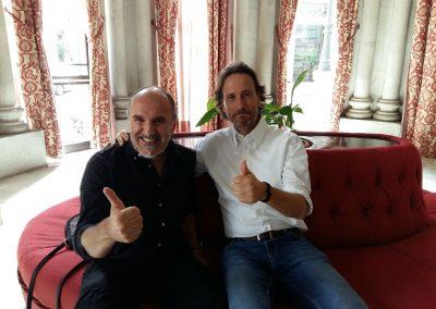 Fernando Salinero y Víctor Küppers