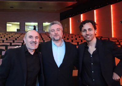 Fernando Salinero con Alex Rovira y Anxo Pérez