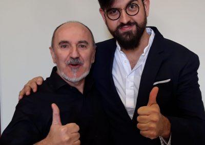 Fernando Salinero con Manu Sánchez